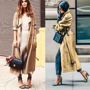 Michael Kors Double Breasted Golden Trench Coat